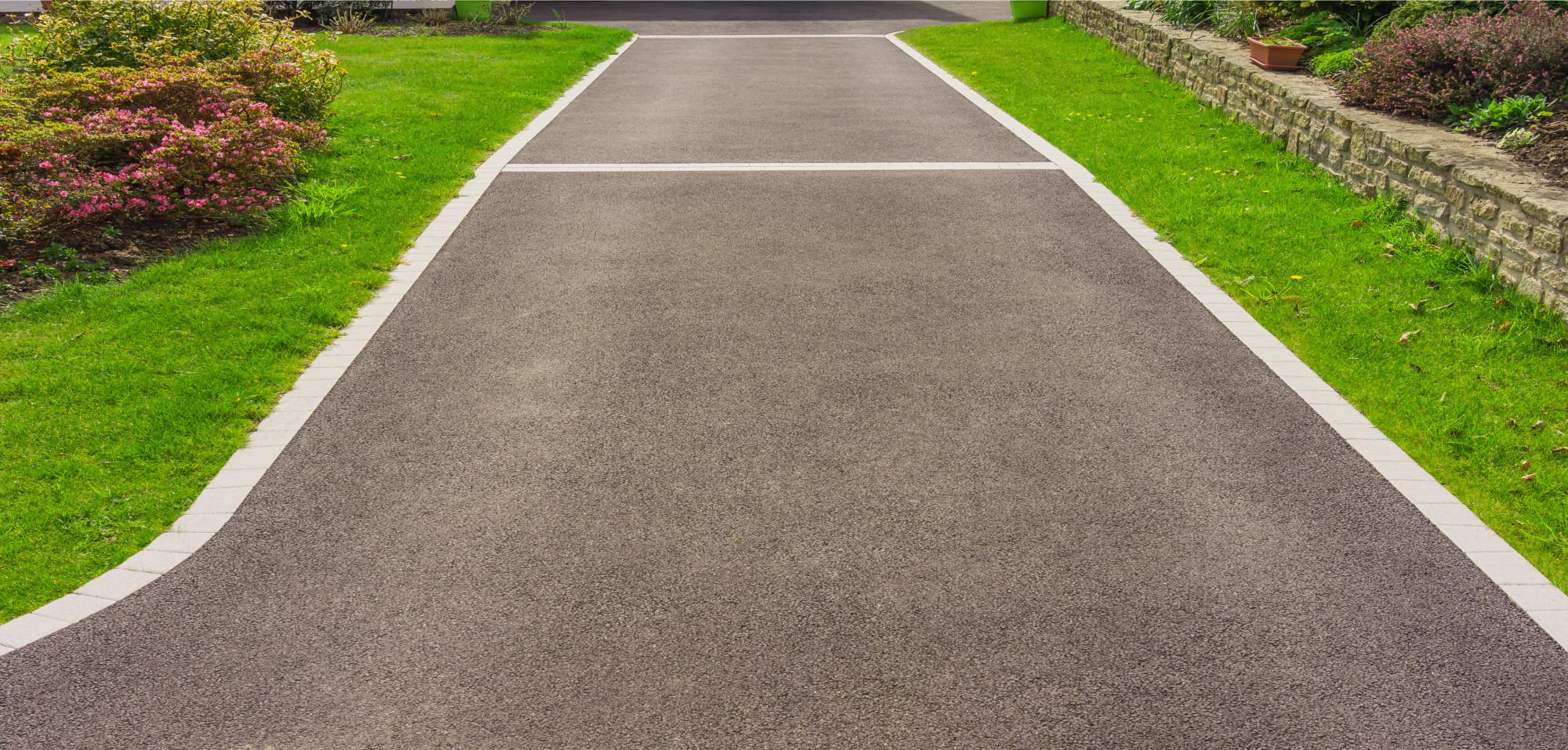 Installing asphalt driveway